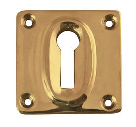 Angular keyhole cover for door handles. - Key, lock and cover plates - 118-010-10 - 1