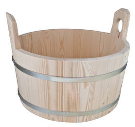 Wooden tub - Wood items and brushes - 949-037-20