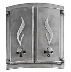Curved stove doors - Cast iron doors - 714-017-1 - 1