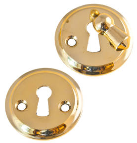 Keyhole cover for door handles with rotating flap. - Key, lock and cover plates - 118-010-11 - 1