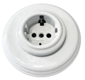 Electric socket - Electrical accessories, white - 517-026-11 - 1