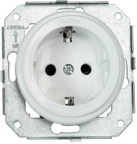 Electric socket, without faceplate - Electrical accessories, white - 517-041-1 - 1