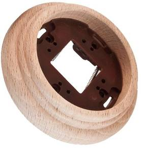 Wooden faceplate, for surface installation boxes - Frames and other accessories - 518-060-1 - 1