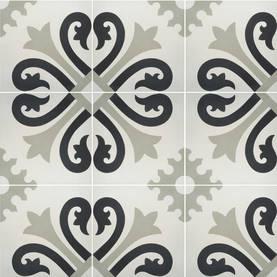 Ranskalainen, musta-beige - Model tiles - 617-010-101 - 1