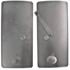 Inner stove doors, curved - Spare parts for fireplace doors - 718-026-1