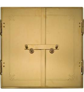 Straight Stove Doors - Brass doors - 714-003-1 - 1
