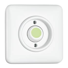 Impulse switch, illuminated button - Electrical accessories, white - 516-140-141 - 1