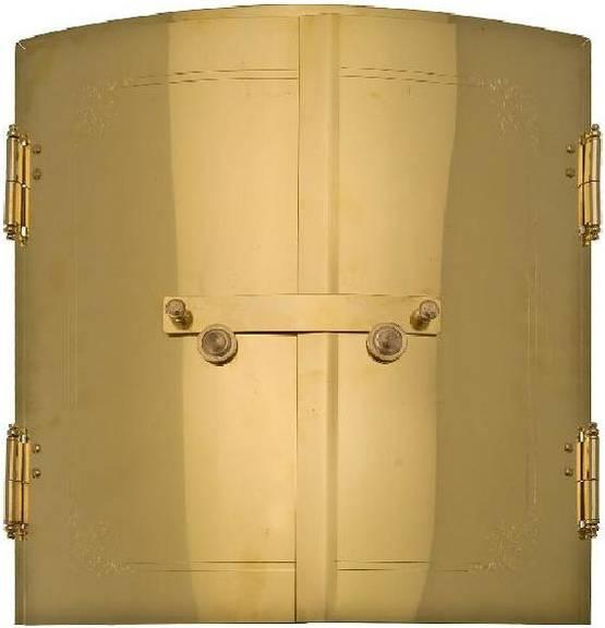 Curved Stove Doors (diameter 70 cm) - Brass doors - 714-001-1 - 1