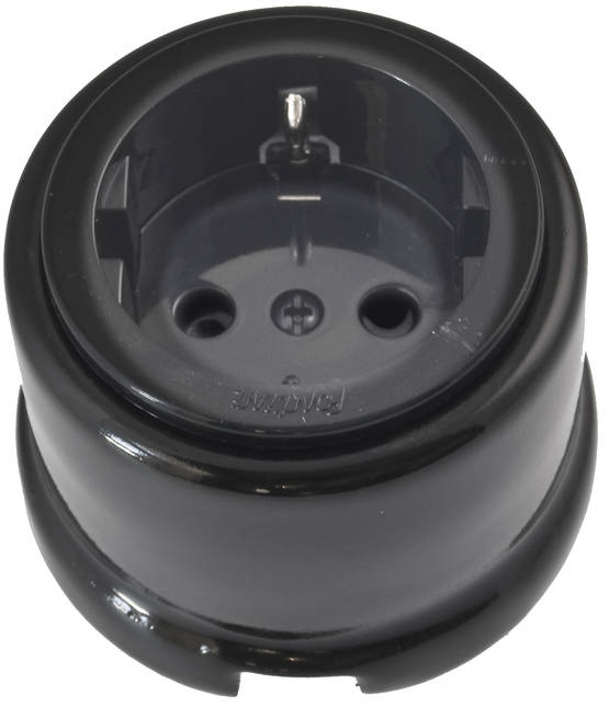 Electric socket - Electrical accessories, black - 517-004-1 - 1