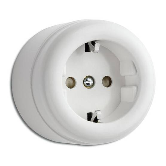Electric socket - Electrical accessories, white - 517-103-1 - 1