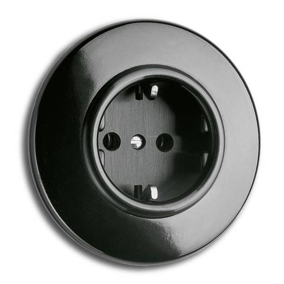 Electric socket - Electrical accessories, black - 517-126-11 - 1