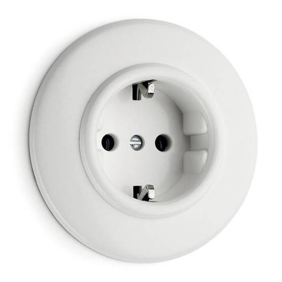 Electric socket - Electrical accessories, white - 517-126-1 - 1