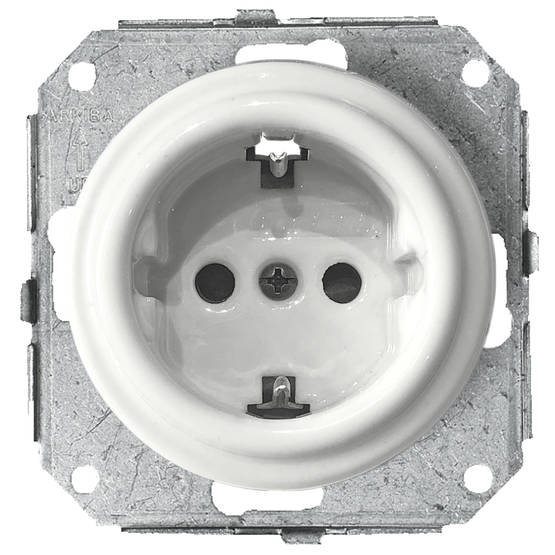 Electric socket, without faceplate - Electrical accessories, white - 517-041-11 - 1