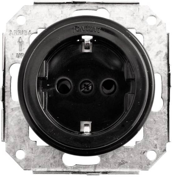 Electric socket, without faceplate - Electrical accessories, black - 517-042-1 - 1
