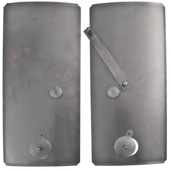 Inner stove doors, curved - Spare parts for fireplace doors - 718-026-1 - 1