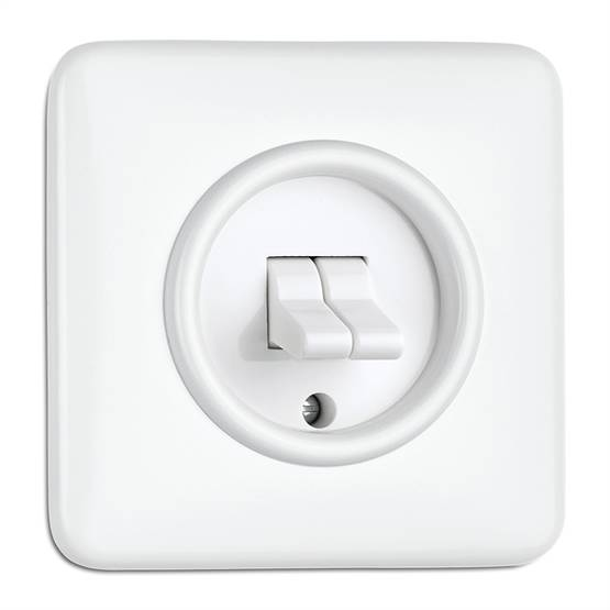 1 position switch, two toggles - Electrical accessories, white - 516-125-11 - 1