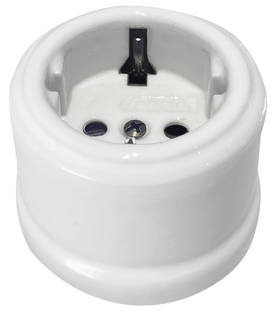 Electric socket - Electrical accessories, white - 517-003-2