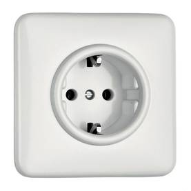 Electric socket - Electrical accessories, white - 517-126-2 - 1