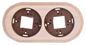Wooden faceplate, for surface installation boxes - Frames and other accessories - 518-060-2 - 1