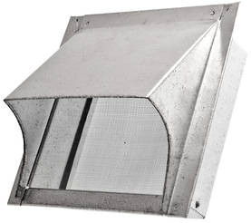 Vent plate, with overhang - Vents for exterior walls - 719-015-12 - 1