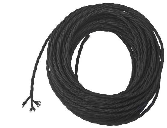 Textile cable, woven - Twisted-pair power cables for lamps - 503-001-2 - 1