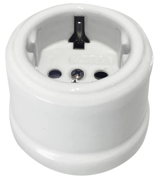 Electric socket - Electrical accessories, white - 517-003-2 - 1