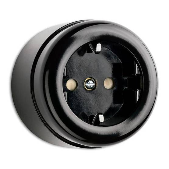 Electric socket - Electrical accessories, black - 517-103-2 - 1