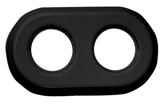 Porcelain faceplate, black - Frames and other accessories - 518-051-2 - 1