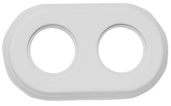 Porcelain faceplate, white - Frames and other accessories - 518-050-2 - 1