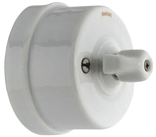 Electric switch - Electrical accessories, white - 516-002-2 - 1