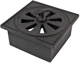 Air Vent, cast iron - Ventilation valves for interior walls - 719-015-3 - 1