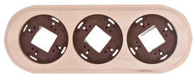 Wooden faceplate, for surface installation boxes - Frames and other accessories - 518-060-3 - 1