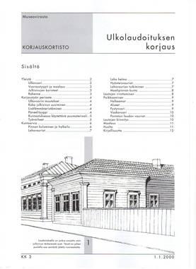 Museoviraston korjauskortisto - Kirjallisuus - 949-061-3 - 3