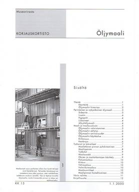 Museoviraston korjauskortisto - Kirjallisuus - 949-061-13 - 3