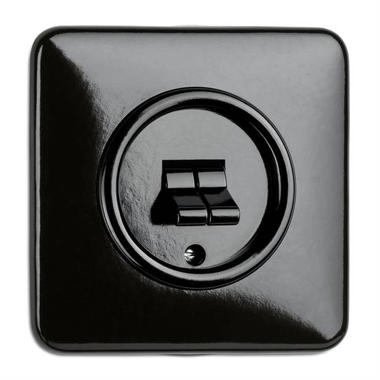 1 position switch, two toggles - Electrical accessories, black - 516-126-13 - 1