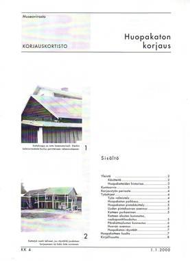 Museoviraston korjauskortisto - Kirjallisuus - 949-061-4 - 3