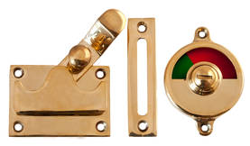 Bathroom surface lock, opening outwards - Toilet door locks - 104-015-4 - 1