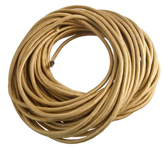 Textile cable, smooth - Smooth power cables for lamps - 503-002-4 - 1