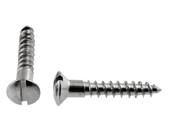 Round Head Screw, nickel-plated - Slot screws, mushroom head - 890-004-4 - 1