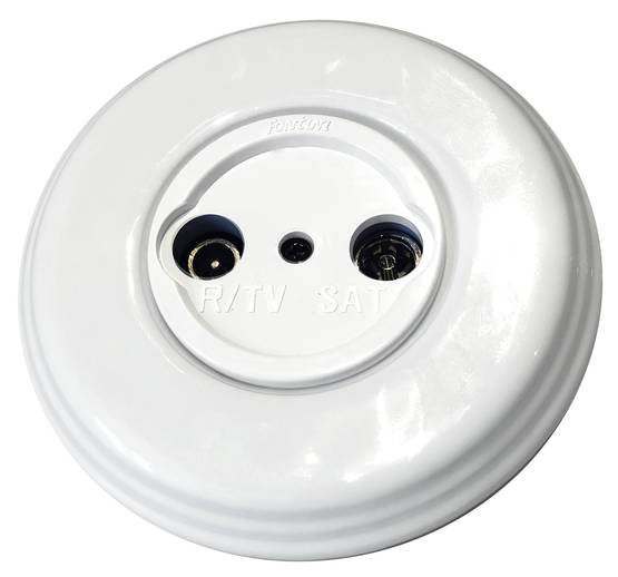 R+TV+SAT socket - Electrical accessories, white - 517-026-4 - 1