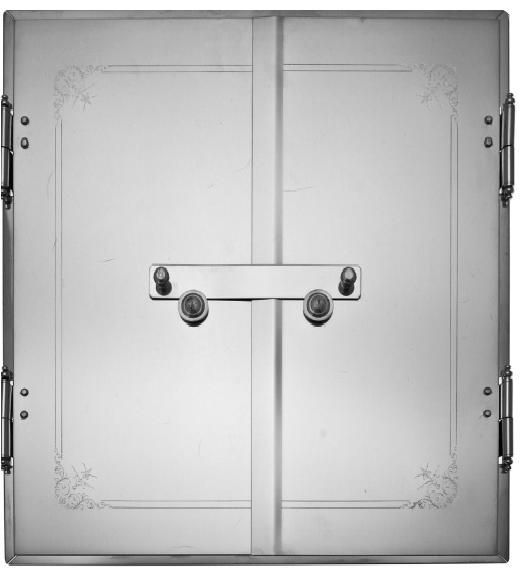 Straight Stove Doors - Nickel-plated doors - 714-003-4 - 1