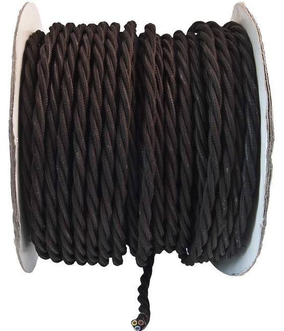 Surface mounted electric cord, dark brown - Power cables for surface mounting - 503-021-5 - 1
