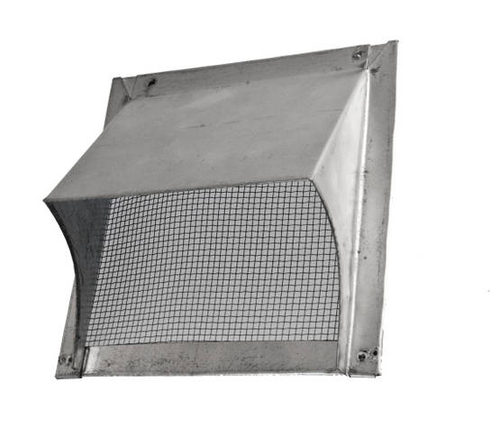 Vent plate, with overhang - Vents for exterior walls - 719-015-15 - 1
