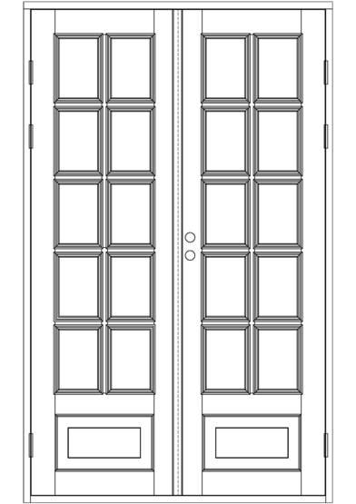 Sisäpariovet, ikkunalliset Kaksipeiliset (moniruutuiset)  Domus Classica ver
