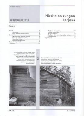 Museoviraston korjauskortisto - Kirjallisuus - 949-061-16 - 3