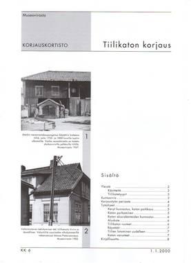 Museoviraston korjauskortisto - Kirjallisuus - 949-061-6 - 3