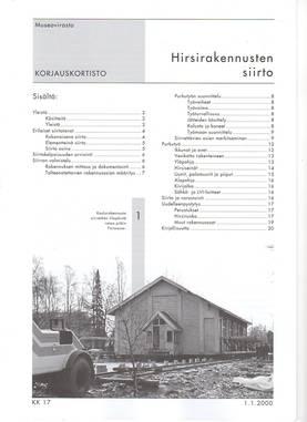 Museoviraston korjauskortisto - Kirjallisuus - 949-061-17 - 3