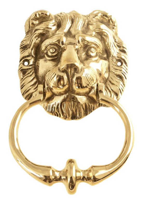 Lion Head Door Knocker - Doorbells and Knockers - 119-030-7 - 1