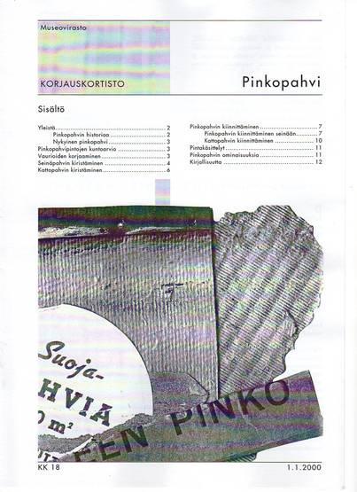 Pinkopahvi Museoviraston korjauskortisto  Domus Classica verkkokauppa