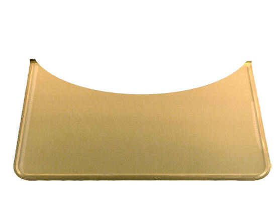 Rounded Floor Guard, brass - Floor plates, brass - 701-006-8 - 1